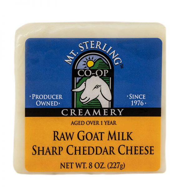 mt. sterling aged raw milk goat cheese cheddar