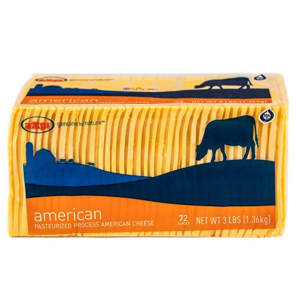 AMPI sliced American cheese 3 lb