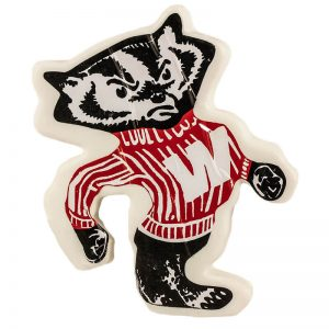 vern's bucky badger shaped cheese