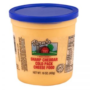 vern's 1lb cheddar cheese spead