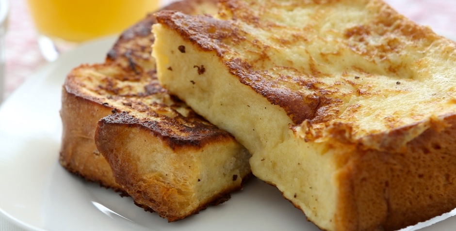 Vern's cheesy baked French toast with Wisconsin parmesan cheese recipe