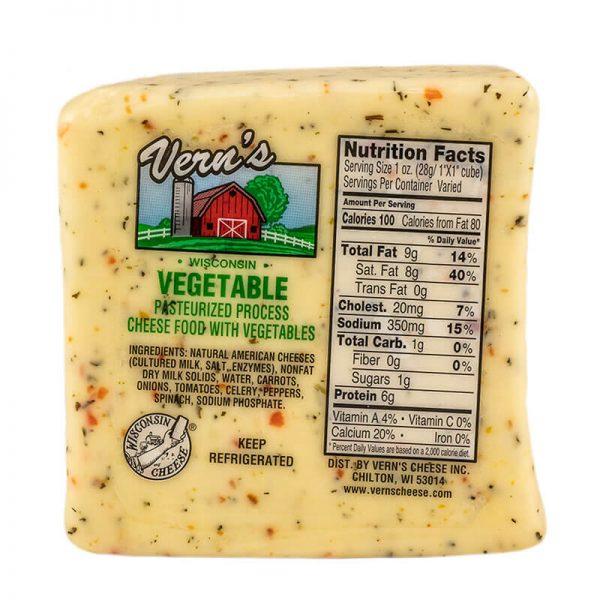 vern's garden vegetable cheese
