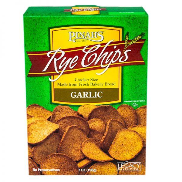 pinah's garlic rye chips