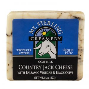 mt. sterling balsamic vinegar & black olive country jack goat cheese