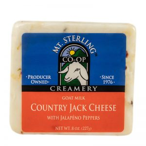 mt. sterling jalapeno jack goat cheese