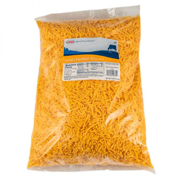 ampi shredded mild cheddar cheese