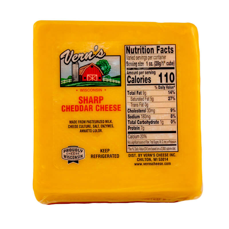 Buy Sharp Wisconsin Cheddar Cheese Online Vern S Cheese