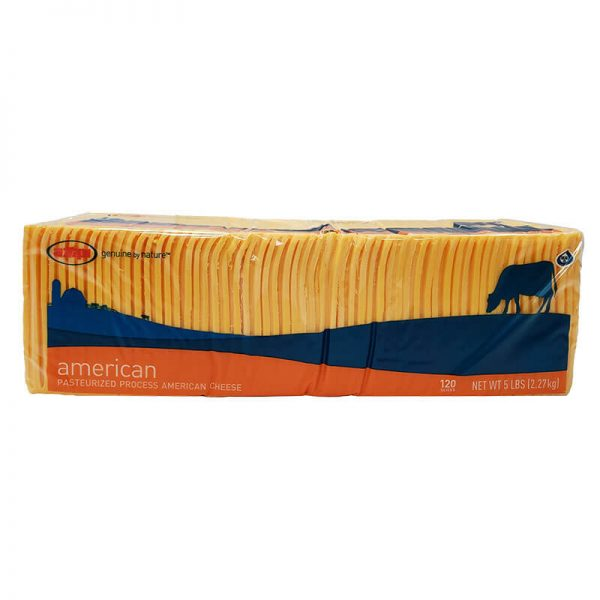 AMPI sliced American cheese 5 lb